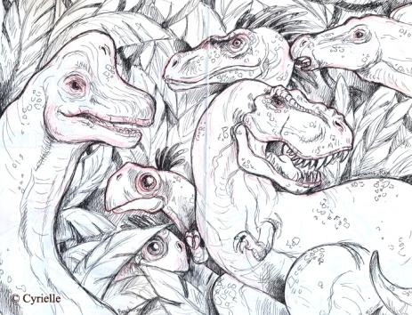 Croquis Dinosaures