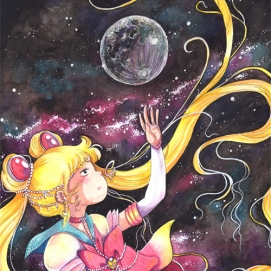 Sailor moon (Fan art de l'oeuvre de Naoko Takeuchi - Sailor Moon)